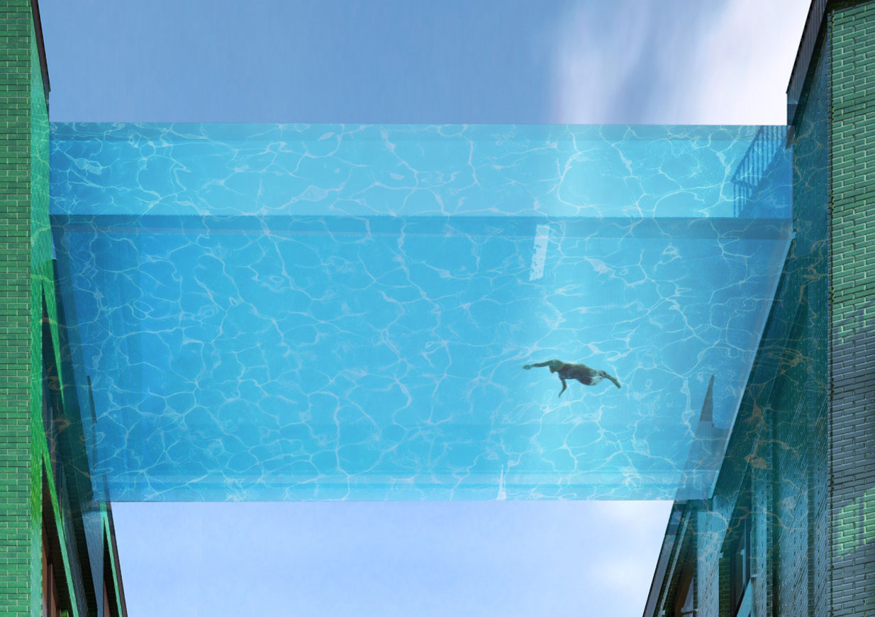 Eckersley o 39 callaghan engineers for Glass swimming pool